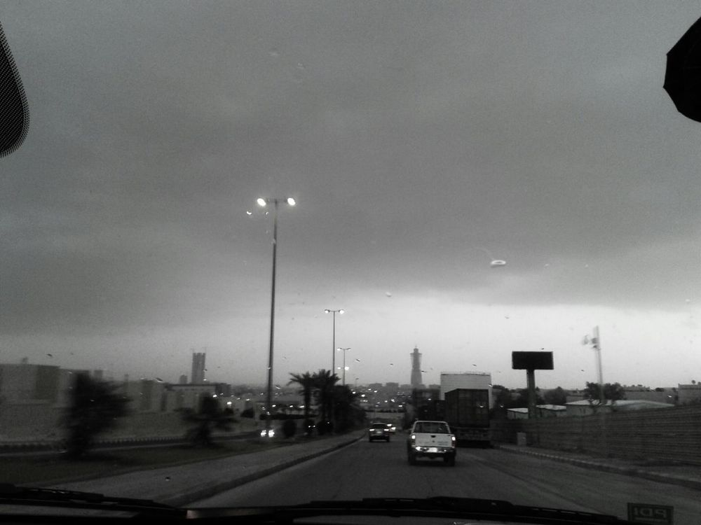 Heavy rain is coming!! Goodmorning ♥ city of Riyadh, Taking Photos On The Road