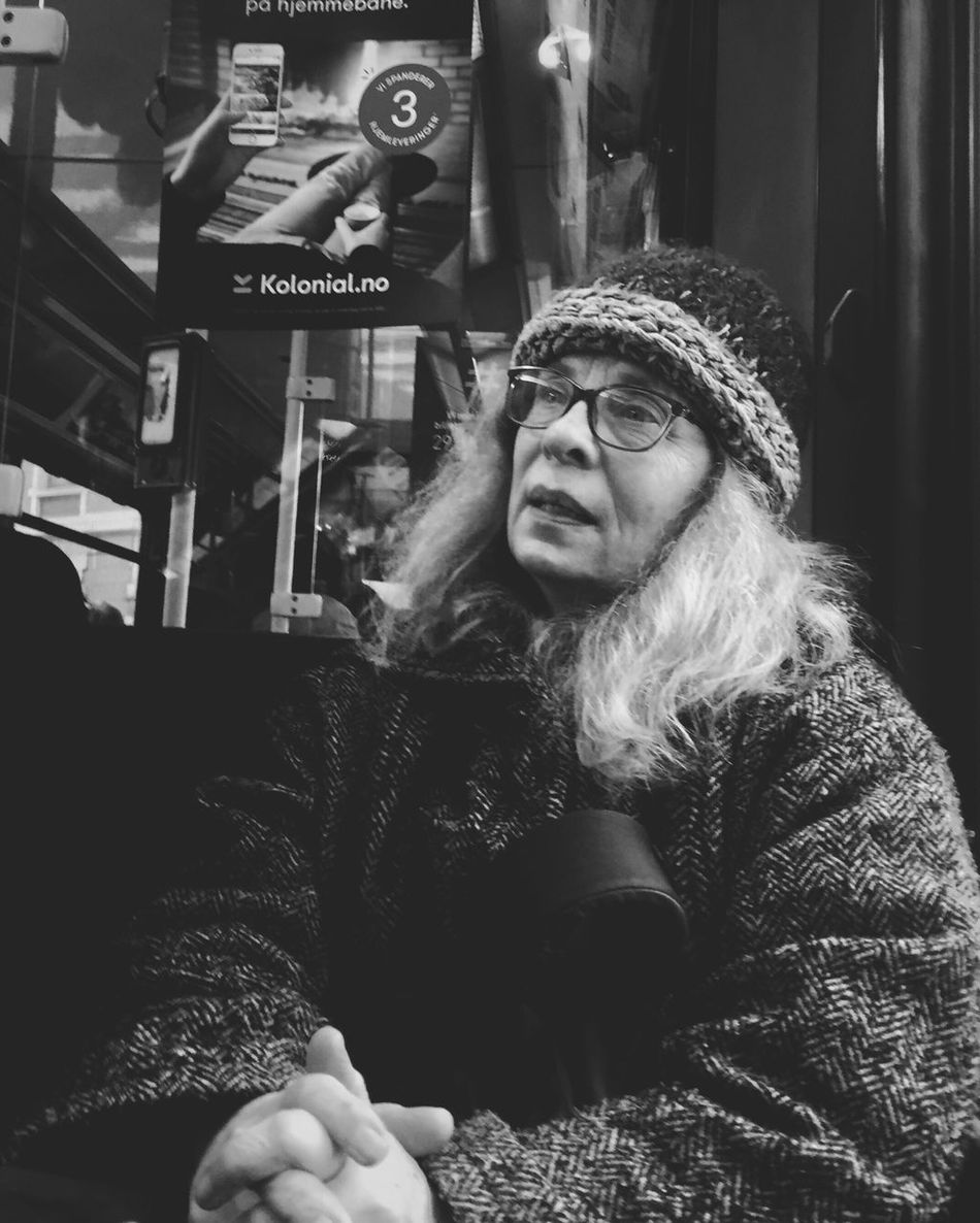 Lost in the moment • Oslostreets Streetphotography Streetbwcolor Streetphoto_bw Street Streetsofoslo Black & White One Person