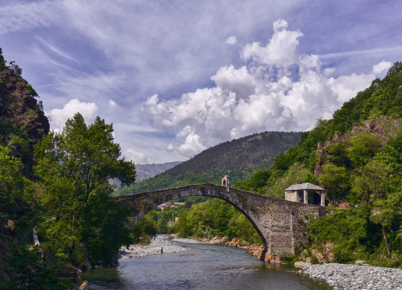 Devil's bridge Tree Architecture Bridge - Man Made Structure Nature Outdoors Built Structure Water River Cloud - Sky Mountain Day Travel Destinations Tranquility No People Scenics Beauty In Nature Sky Building Exterior City