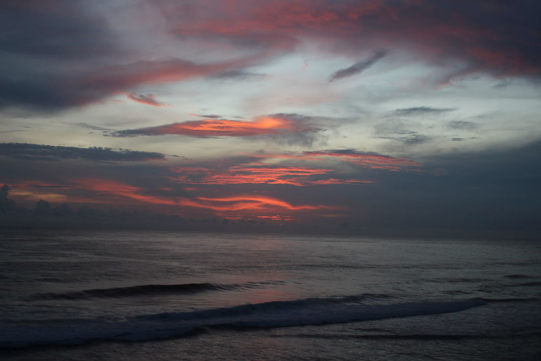 afternoon sun beach Indrayanti jogyakarta Indonesia Sunset Sky No Poeple Red Outdoors Water Sea Beach