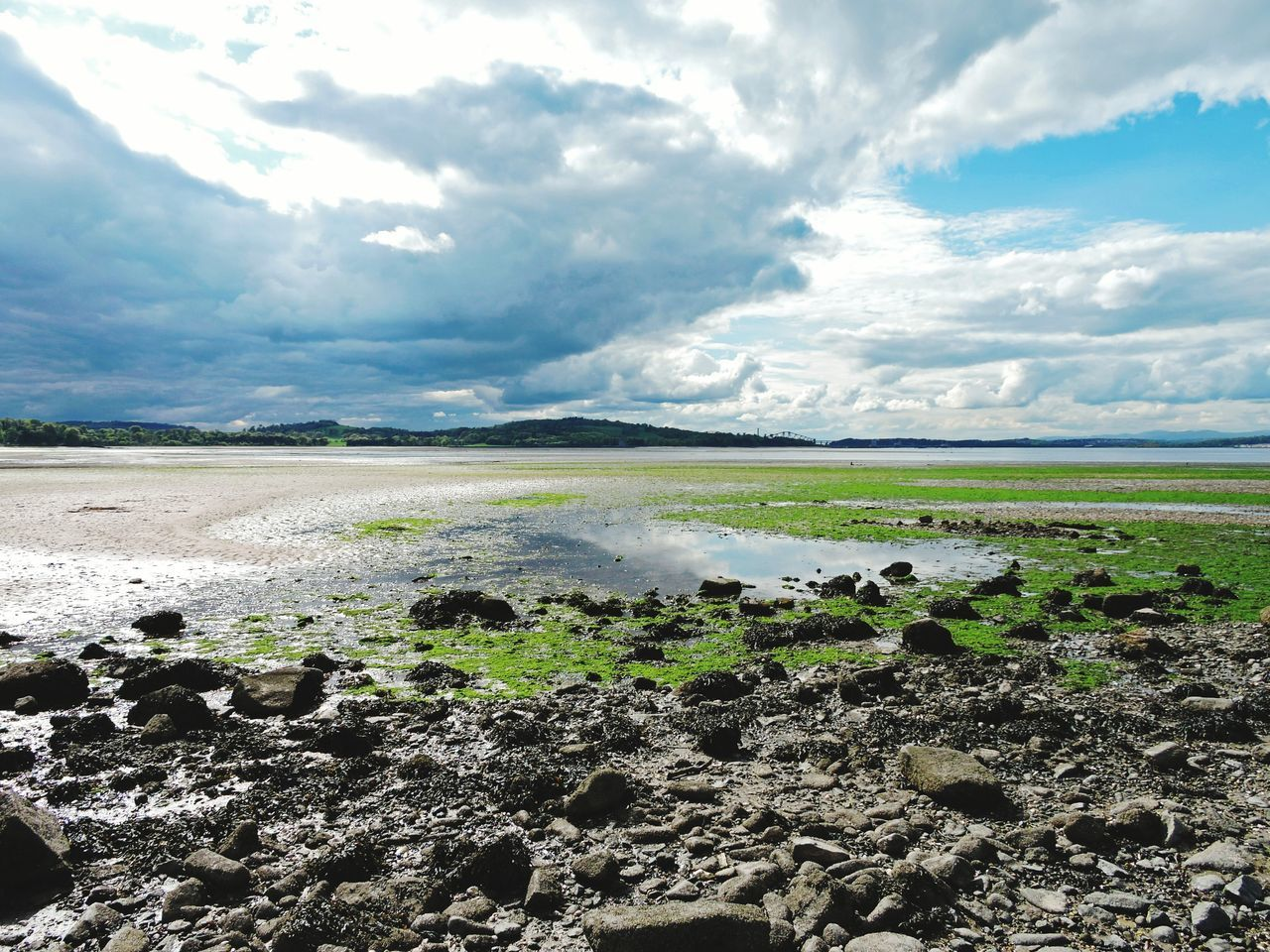 View of Cramond Beach from Cramond Island at low tide. Scotland Edinburgh Beach Scottish Beaches Travel Hiking Trecking Urban Trecking Urban Hiking Microadventure Cramond Island Spring Scottish Tourism