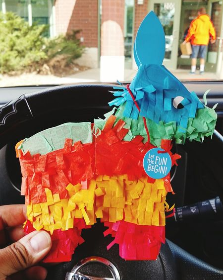 When feeling down, beating up a piñata always helps