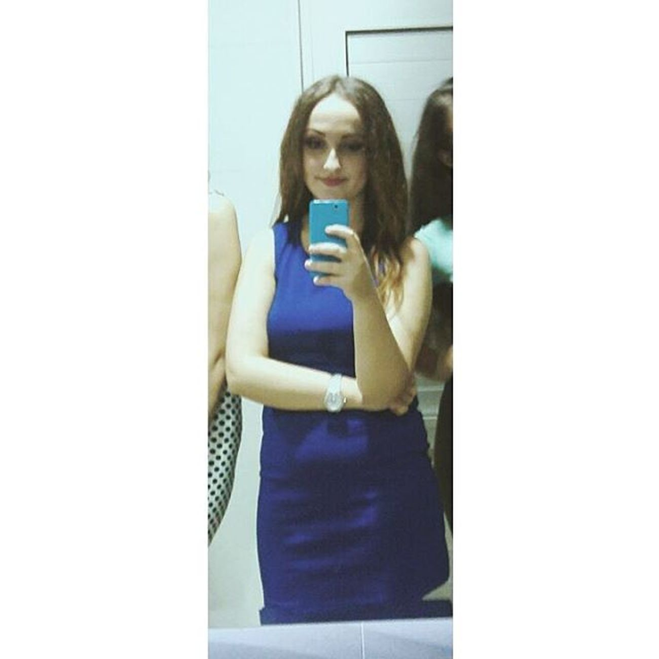 Hello Trowback Saturdaynight GirlsNight Celebrating Lovethisdress Bluedress