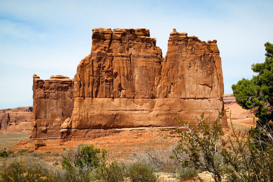 Arches National Park Arid Landscape Arid Rock - Object Beauty In Nature Eroded Rocks Physical Geography Old West  Outdoors Rock Formation Sandstone Sky Stone Material The Old West The Organ The Past Weathered Travel Destinations Arid Climate Wind Erosion Rocky Mountains Arches National Park, Utah Eroded