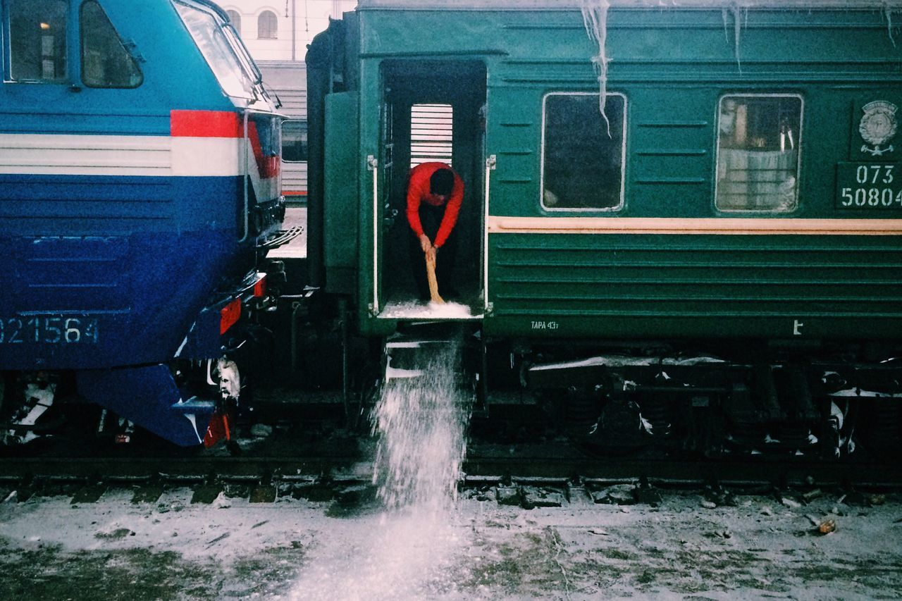 It's Cold Outside Winter Russia Moscow Train Railway