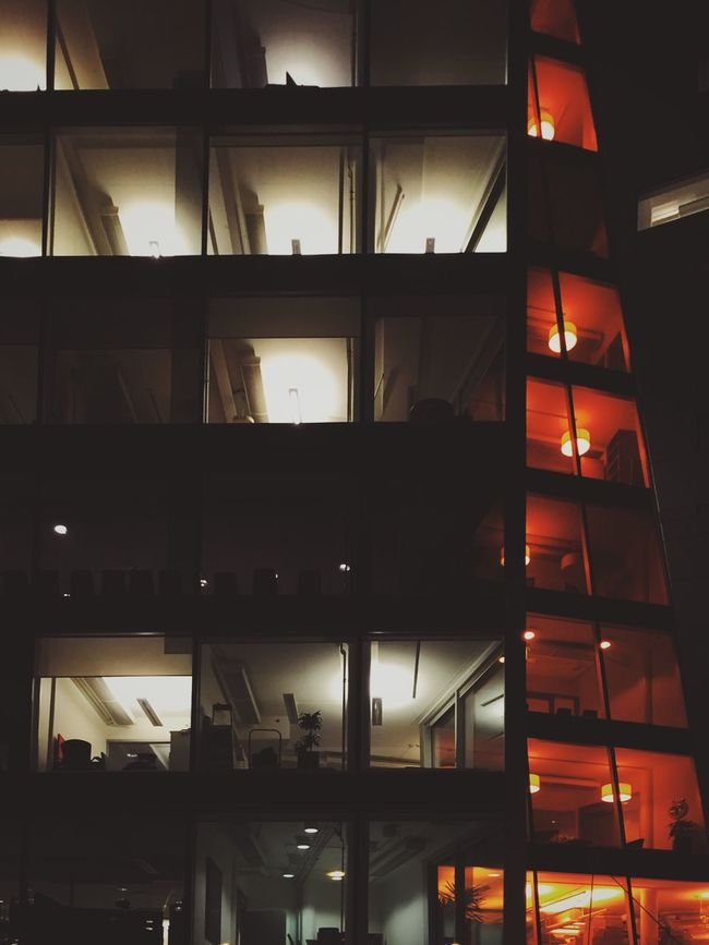 Architecture Building Office Building Office Night Mobilephotography Mobiography Oslostreets
