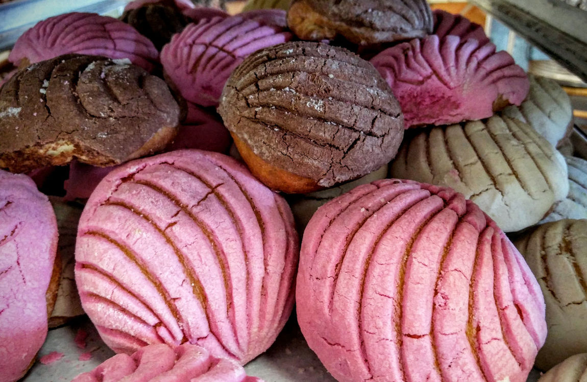 Abundance Arrangement Bread Close-up Culture Large Group Of Objects Mexican Bread Pan Dulce Pink Repetition Still Life Sweets