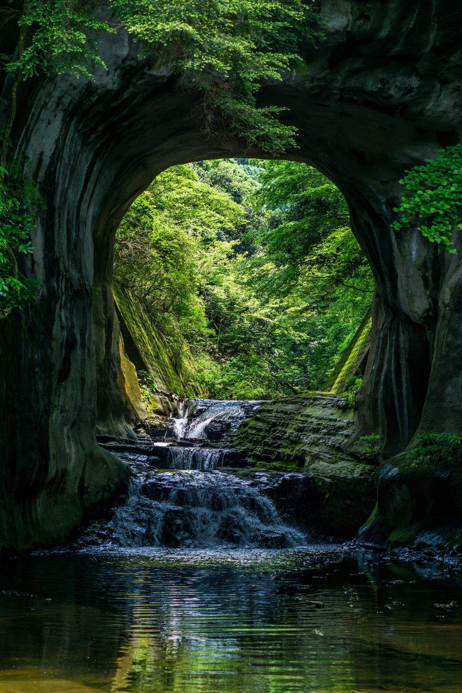 Japan Chiba Kimitsu Waterfall Nomizo_falls Nature Nomizo_waterfall Nomizo Waterfall, Kimitsu, Japan First Eyeem Photo