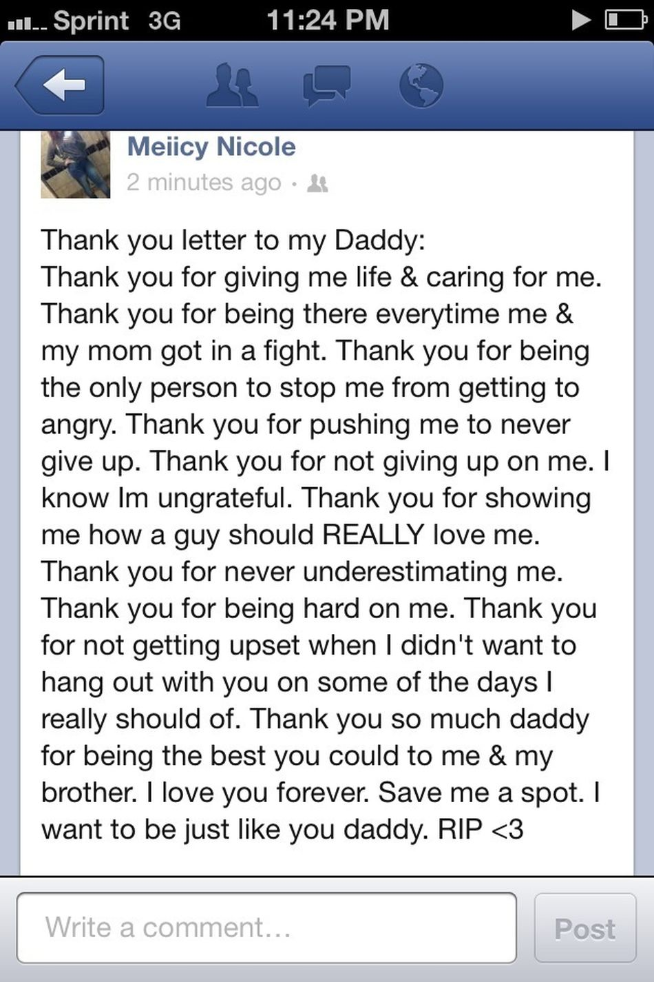 Thank You Daddy.. RIP
