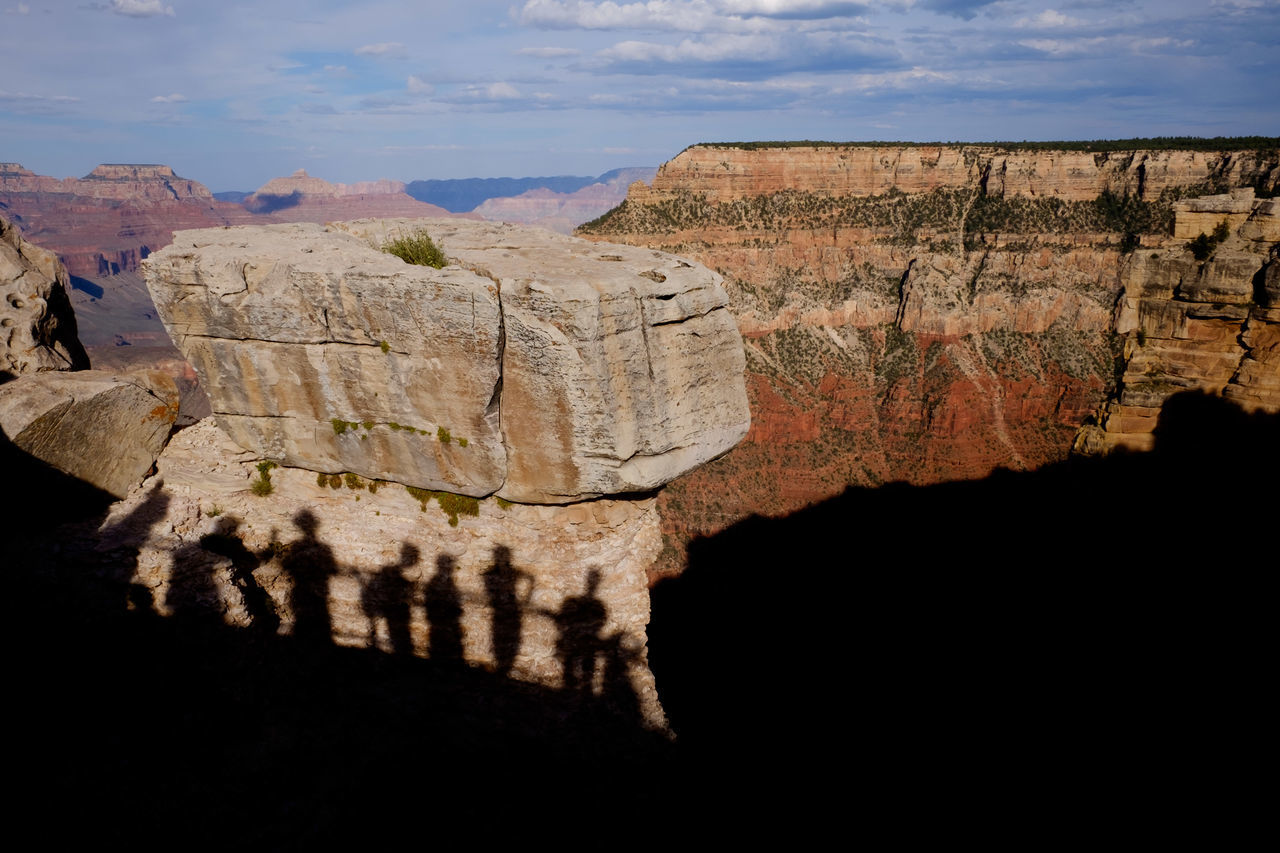 Shadow Sunlight Mountain Travel Tranquil Scene Tranquility Sky Travel Destinations Outdoors Nature Scenics Tourism Rock Formation Physical Geography Day Cliff Vacations Geology Grand Canyon Arizona Street Photography Streetphotography Sommergefühle