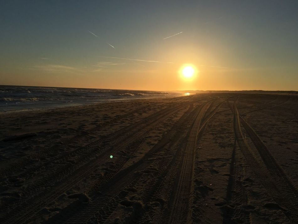 Sun and beach Sun Sunset LongIslandNY Hamptons Bay Beach Sand Beachphotography Check This Out IPhoneography Yellowsunset Trails