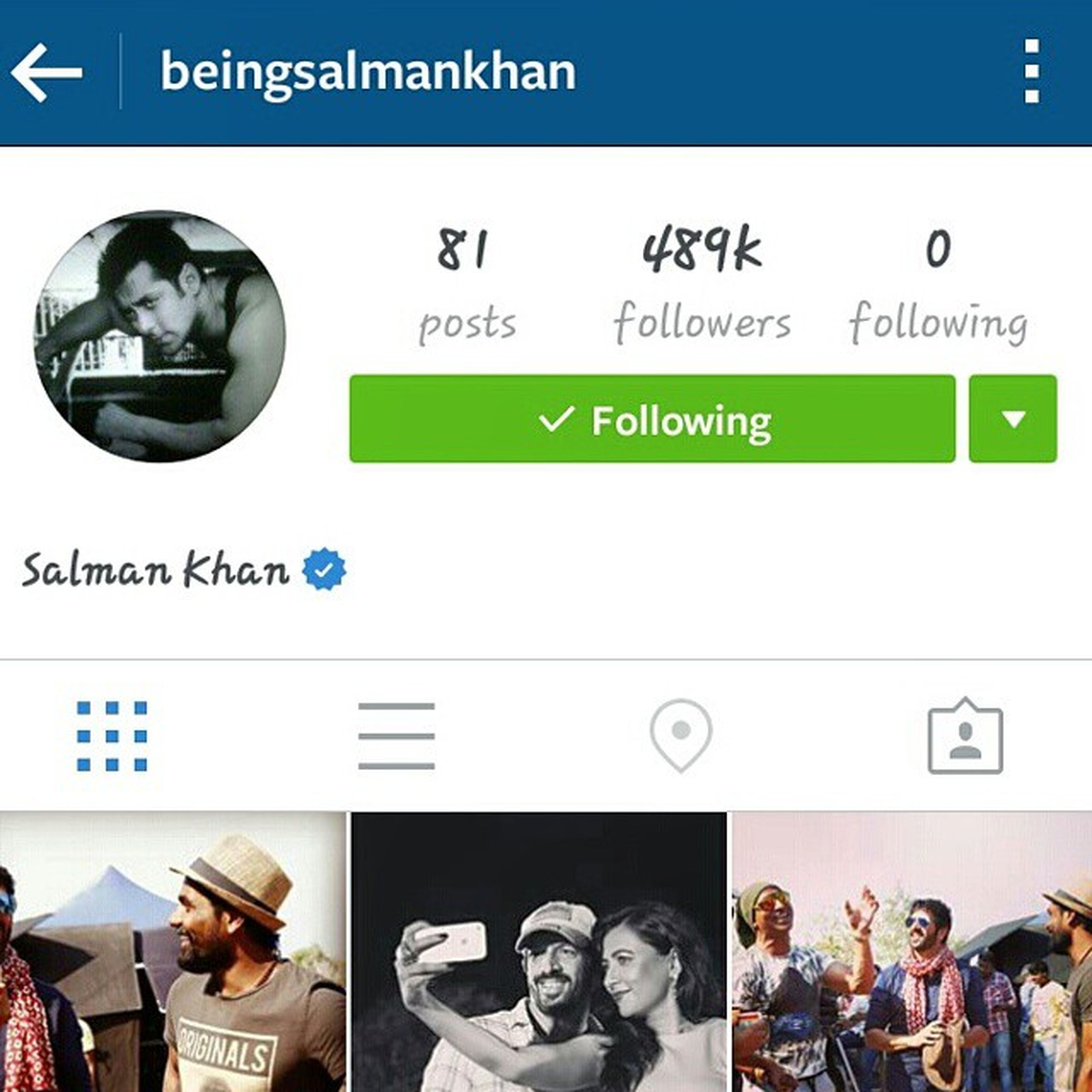 He follows none thats why I follow him! 😎 Beinghuman 💕 Beingsalmanfan 👦Bhaijaan💪 Salmanfanforever 😊😊😊
