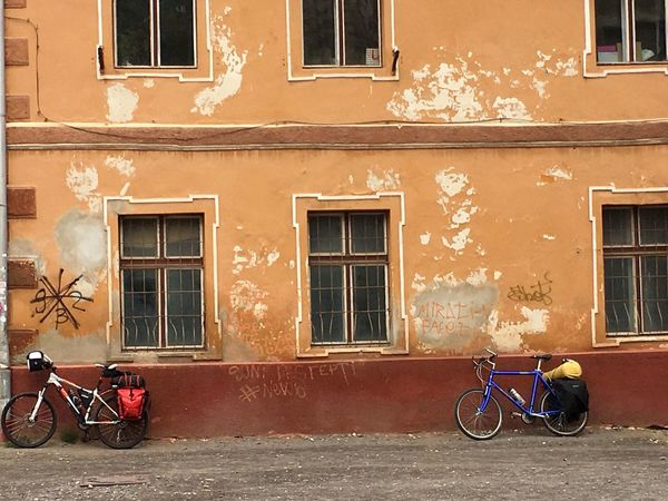 Check This Out Brasov Romania Brasov Romania Wandering Around Streetphotography Street Photography Architecturelovers Bicycle Colorful Colour Of Life