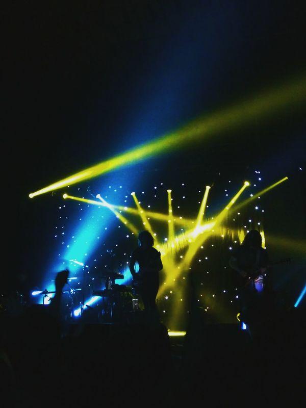 Nightlife Illuminated Music Popular Music Concert Stage Light Fun Night Modern Rock Silhouette Rock Music People Adult Electric Guitar God Is An Astronaut GIAA Spacerock Saint Petersburg Aurora Concert Hall