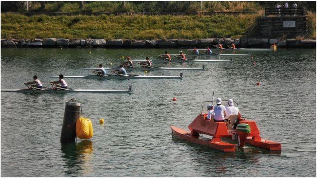 """Starting line"". Canottaggio  Rowing Race Rowing Campo Di Regata @ Genova-Pra' Boats Referees Linea Di Partenza Starting Line Smartphone Photography Note 2 Snapseed"