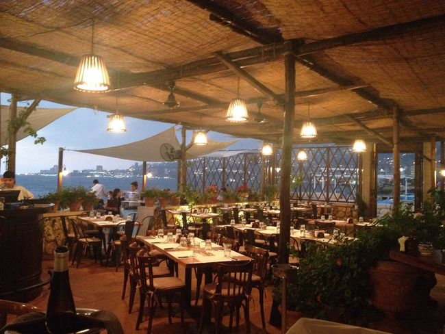 Seaside Getting Dark Mediterranean  East Mediterranean Italian Restaurant Lebanon