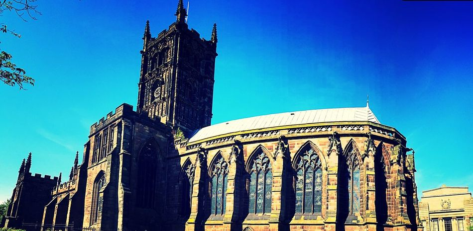 Architecture Low Angle View Spirituality Religion Place Of Worship Cathedral Gothic Wolverhampton Saint Peter's Cathedral St Peter's St Peters St Peters Cathedral West Midlands Gothic Cathedral Cathedral Gothic Architecture Religious Architecture EyeEm Best Shots - Architecture EyeEmBestPics EyeEm Best Shots Religious Place EyeEm Gallery Cathedrals  Religious Buildings Religion Architecture