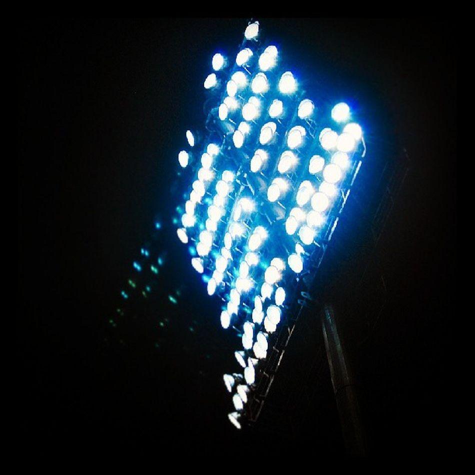 Lights at the Pallekelle International Cricket stadium