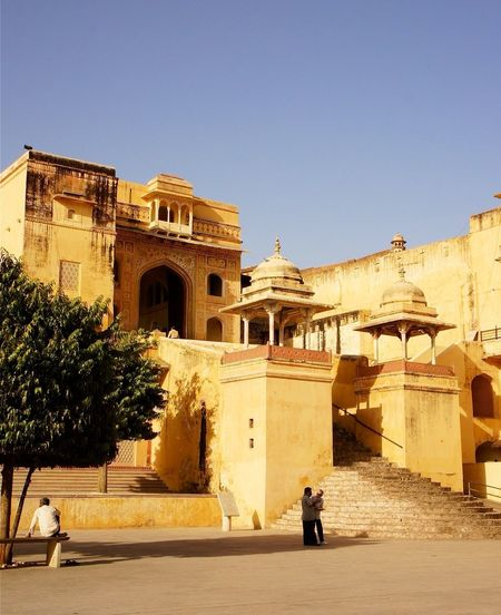 Traveling Architecture India Amber fort Colors
