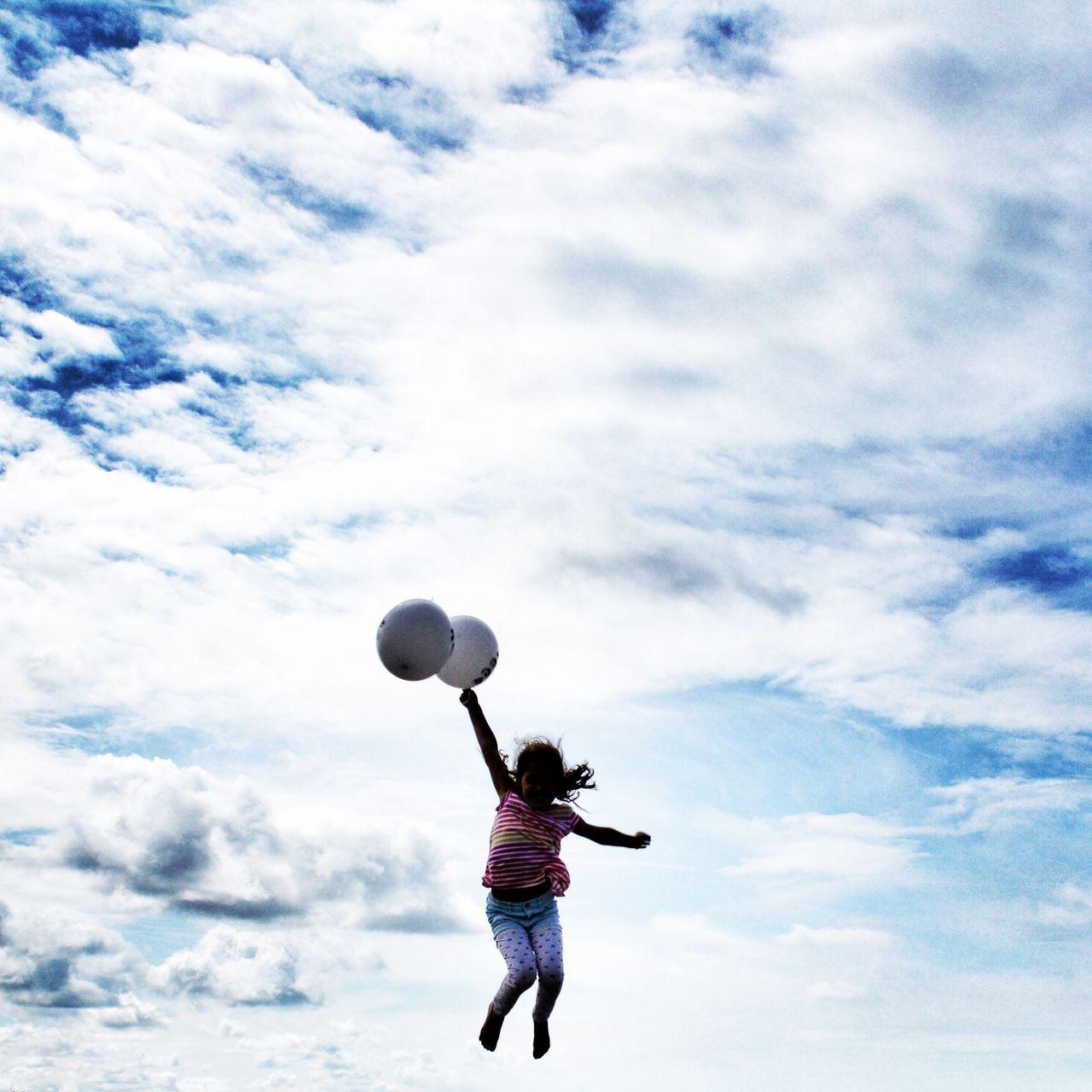 Balloons Ballons Sky Sky And Clouds Happy Jump Kid Himmel Ciel Enjoying Life EnjoyTheMoment