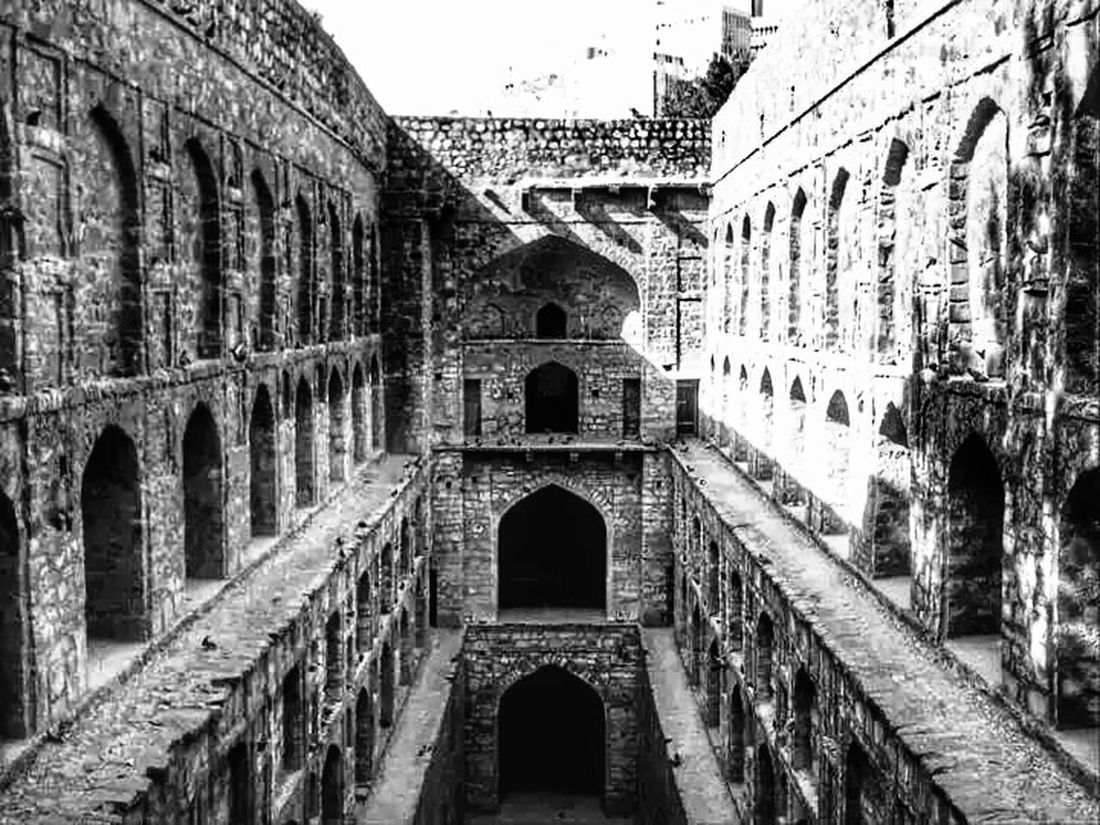 Abandoned Buildings Agrasen Ki Bauli an abandoned Step Well in the midst of busy ConnaughtPlace .... amazing respite from the heat, a sharp contrast to the growing concrete jungle around....