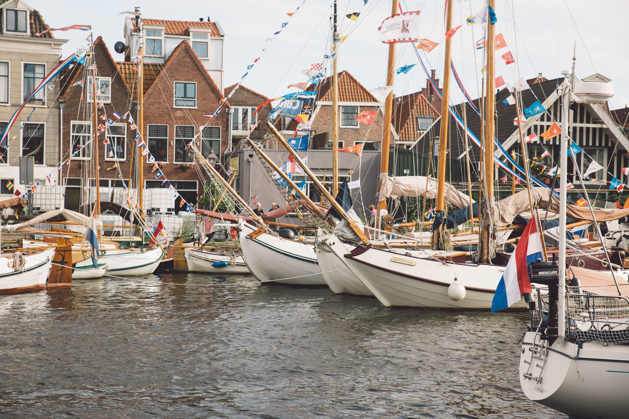 Architecture Haarlem Haarlemse Haarlemse Vaardagen 2017 Architecture Boats Building Exterior Built Structure Canal City Cruise Day Dutch Mast Mode Of Transport Moored Nature Nautical Vessel No People Outdoors River Sea Ships Sky Spaarne Transportation Vaardagen Water