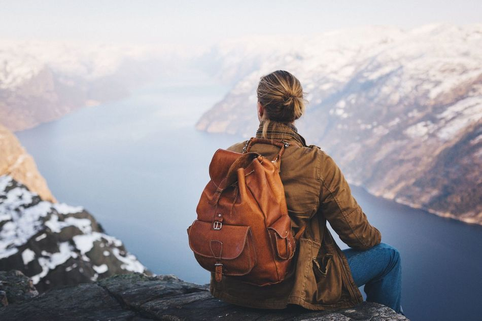 Beautiful stock photos of natur, Backpack, Beauty In Nature, Casual Clothing, Cliff