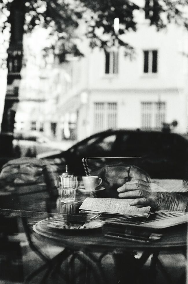 Analog Photography A-1 Tmax400 Reflections Black And White Street Photography Abstract