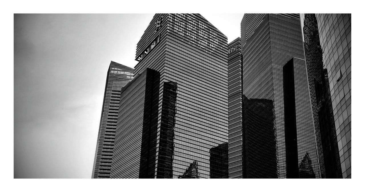 No People Sky Day Indoors  Singapore City Blackandwhite Black And White Building Exterior Black & White Cityscape Singapore View Singapore City Business Finance And Industry Urban Skyline City Building Exterior Modern Skyscraper Urban Skyline Cloud - Sky The City Light