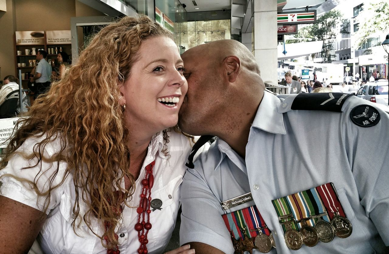 Love Without Boundaries Love Kisses Happy Happy People Love ♥ In Love In Love ❤ Return Home Return Solider Air Force Returning Home Solider Airman Medals Ceremony Medals All My Medals Coming Home Welcome Home