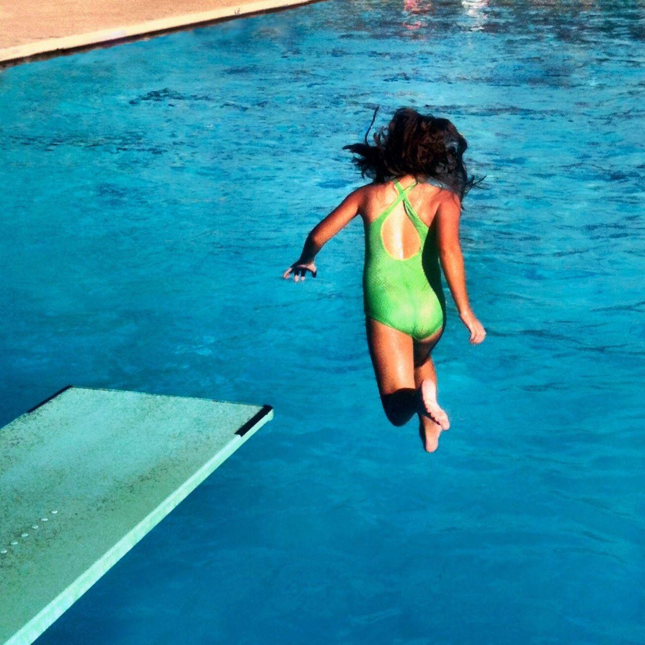 Swimming Pool Swimmingpool Diving Board Jump