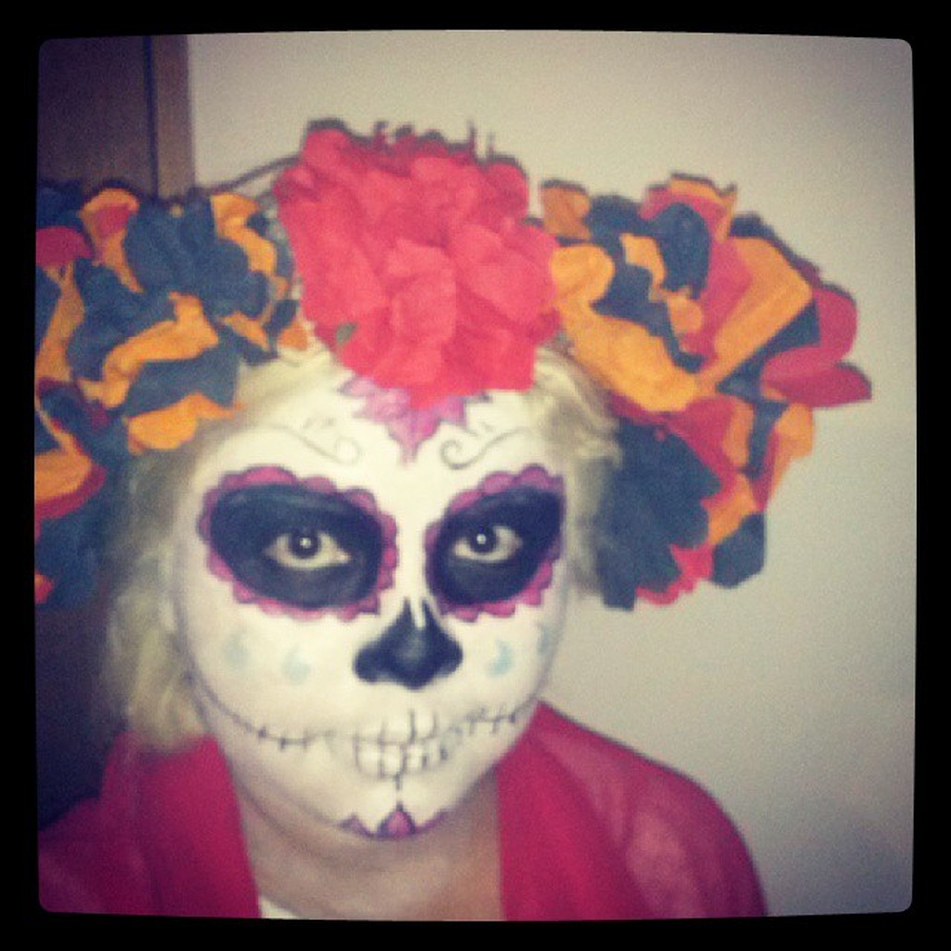 Catrina Dia_de_muertos Makeup Happytime girl mexicangirl color flowers paperflowers papel flores diy