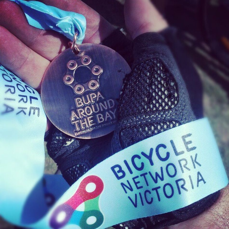 MADE IT. 135km. AroundTheBay . More importantly, $750 raised for Australia's disadvantaged kids. Thank you all so much!