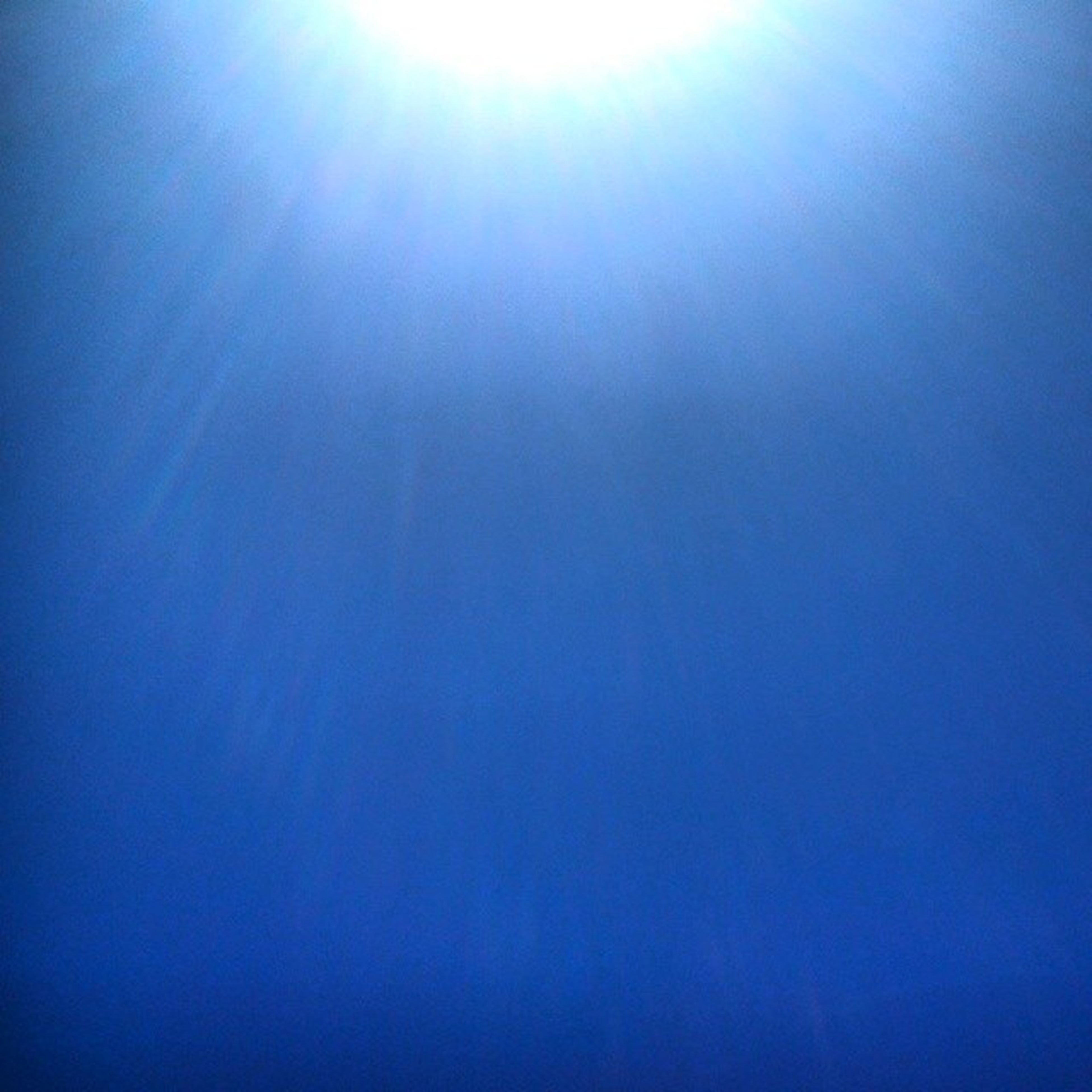 blue, low angle view, copy space, clear sky, sun, tranquility, beauty in nature, tranquil scene, nature, sunlight, sunbeam, scenics, sky, bright, sky only, backgrounds, idyllic, no people, lens flare, outdoors