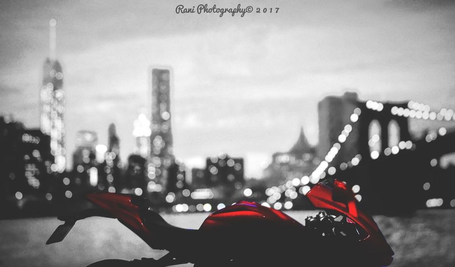 City Outdoors Bokeh Photography Newyorkcity Bike Close-up Sony SonyHX400V City Defocused No People Blue Built Structure Architecture Industry Illuminated Night
