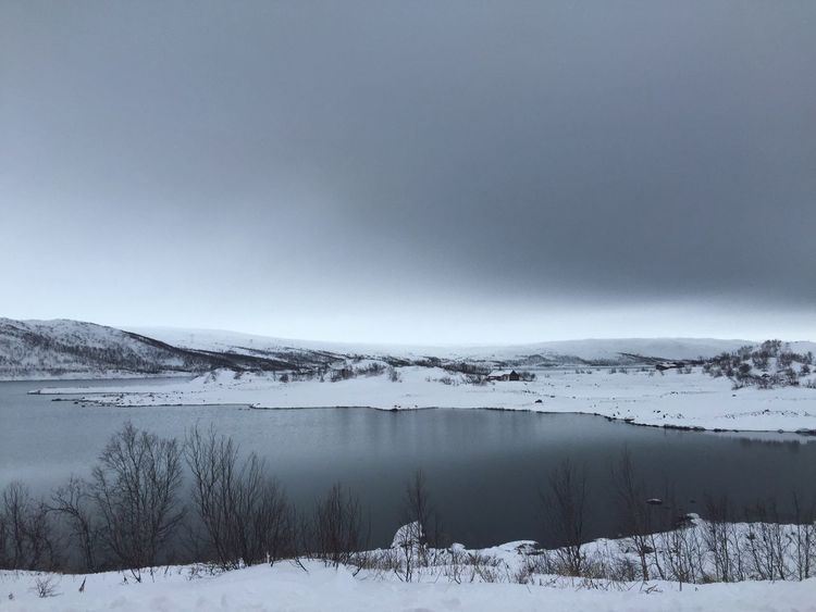"""""""A man falling into dark waters seeks a momentary footing even on sliding stones."""" -George Eliot Bodies Of Water Dark Waters Lake Snow Covered Landscape Barren Landscape Winter Emptiness White Nature Pristine - Traveling in Norway"""