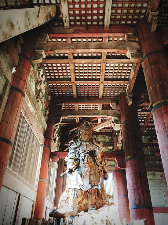 Koumoku-ten Toudaiji Nara,Japan Daibutsuden Religion Low Angle View Statue Travel Photography
