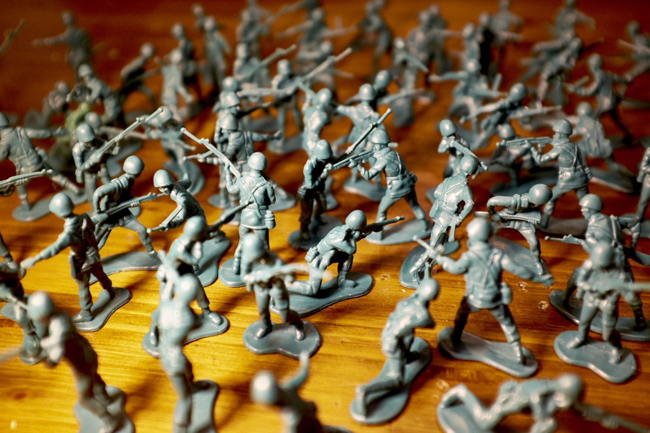The war is only about the people. Army Arrangement Close Up Close-up Focus Toy War