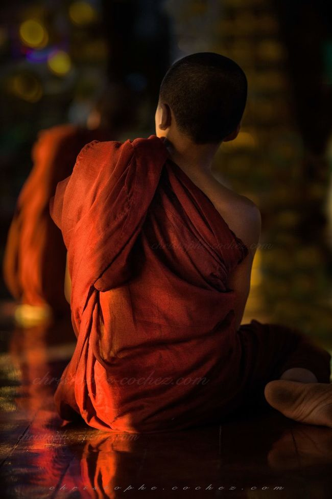 burmes monk in wat thail wattanaram maesot thailand Asie Birman  Birmanie Bouddha  Bouddhisme Bouddhiste Buddhism Buddhist Burma Burmese Maesot Myawaddy Novice Monk Portrait Religion Thailand Thaïlande Voyage Wat Wattanaram