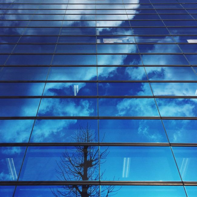 Clouds And Sky Mirror Reflection Streetphotography Blue Sky Check This Out IPhoneography Sky