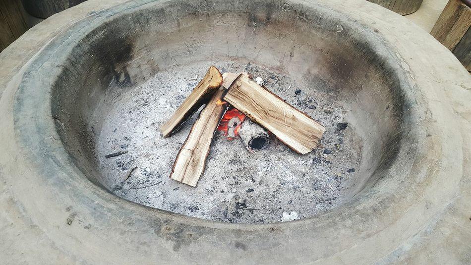 Fire Burning Log Fire Brazier Heat