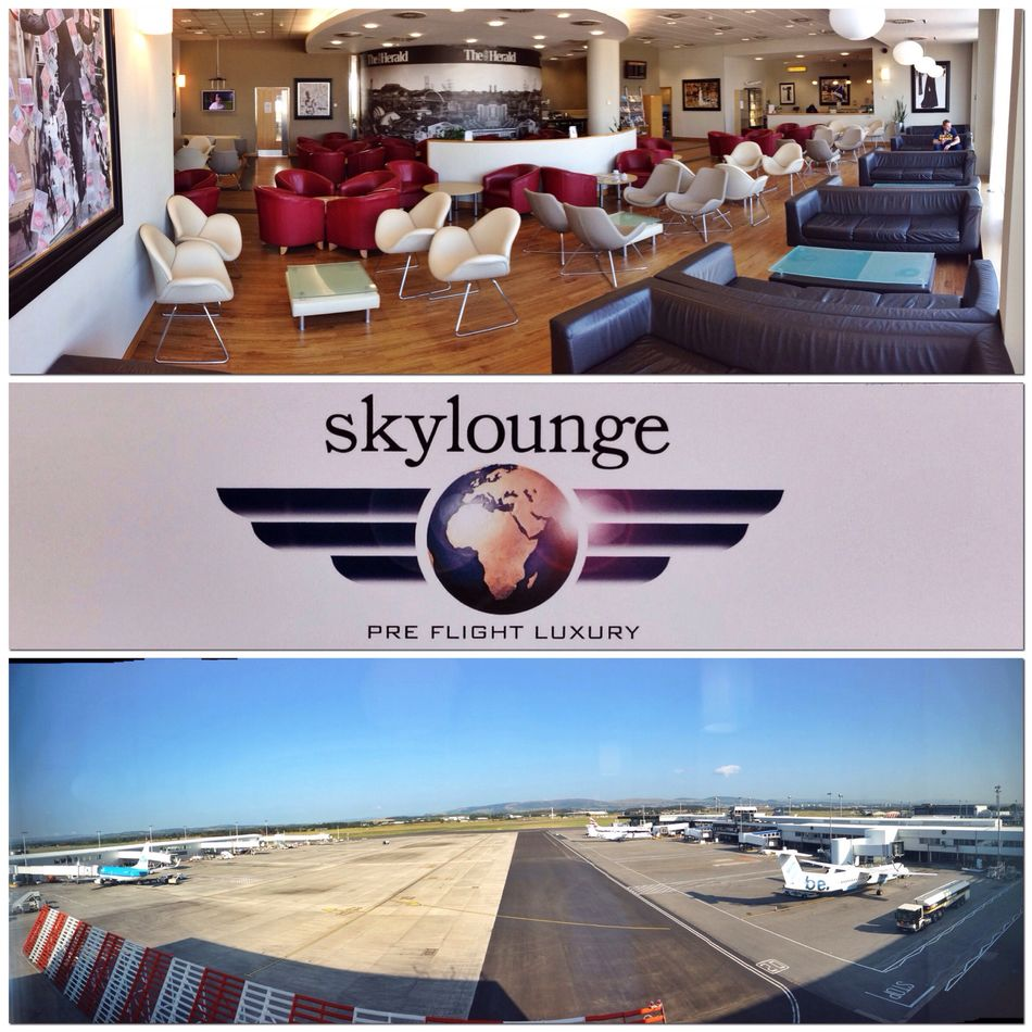 Skylounge GLA indoors and airfield panoramas