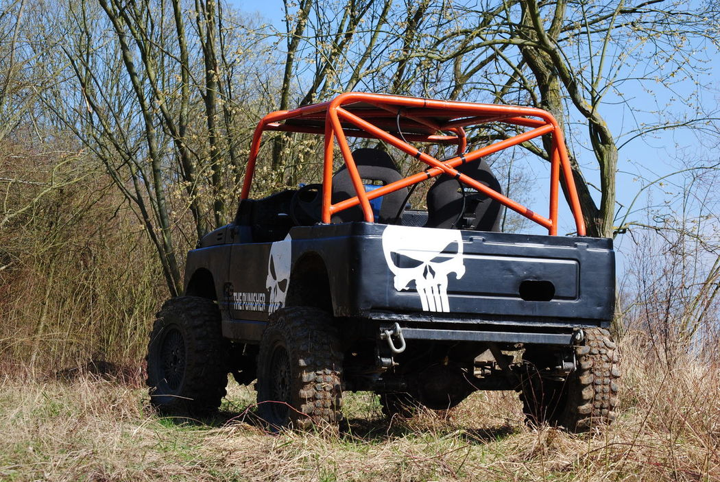 4x4 The Punisher Bare Tree Clear Sky Day Grass Land Vehicle No People Offroad Outdoors Punisher Samurai Suzuki Transportation Tree Trial Trial4x4