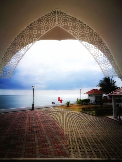 Floating Mosque Sea Sky Arch Scenics Water No People Outdoors Day Horizon Over Water Nature Minaret Floating Mosque Travel Call To Prayer Malaysia Melaka holiday Summer Vibes Summer Memories