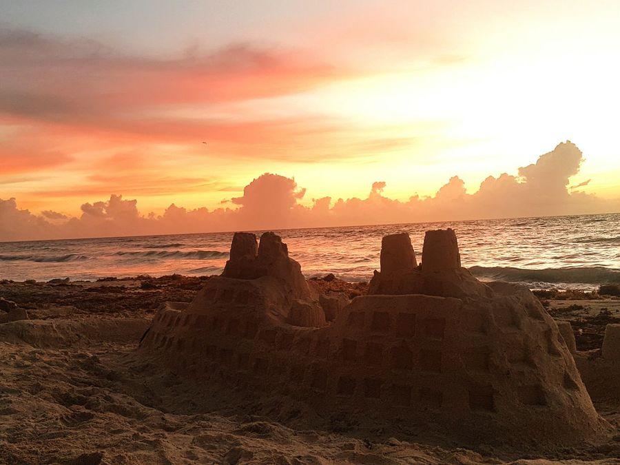 Travel Sea Outdoors Beach Landscape Cloud - Sky Sand Beauty In Nature No People Day Sunrise Sand & Sea Sandcastle Mexico Punta Mita