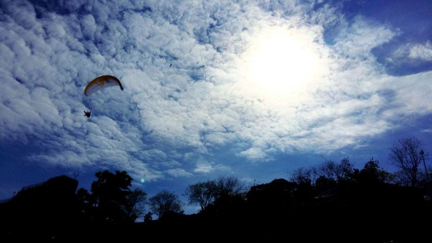 Paraplane Sky Sun Fly In The Sky Clouds Fun Extream Landscape Sun Behind Clouds BYOPaper! Been There. Done That. The Week On EyeEm Second Acts