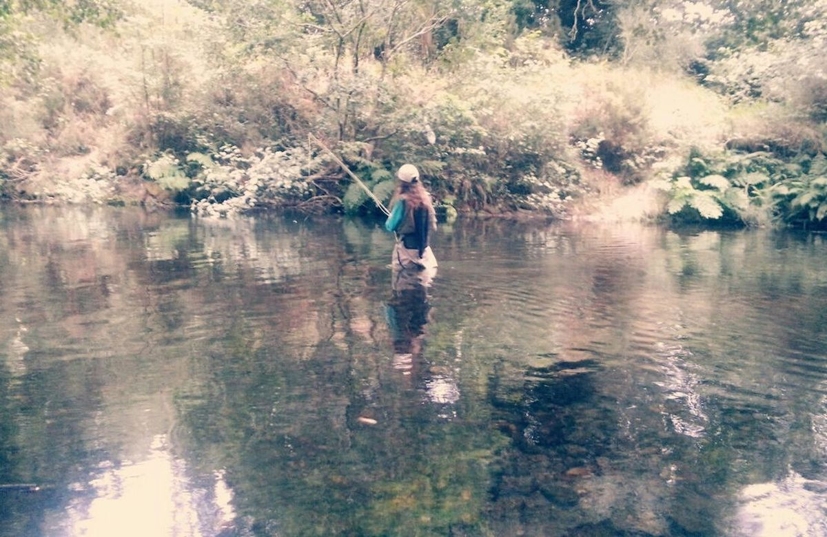 Relaxing Flyfishing  That's Me My New Hobby Beautiful Nature Naturelovers Natural Blonde Blonde Hair Artistic Photo Thats Me ♥