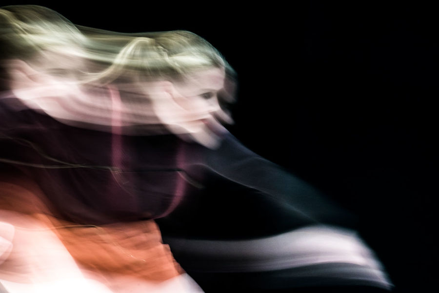 Blurred Dance Dance Performance Dancing Experimental Folkwang University Ballet Ballet Dancer Black Background Blurred Motion Blurred Movement Close-up Dancer Day Headshot Indoors  Lifestyles Long Exposure One Person Real People Young Adult Young Women AI Now