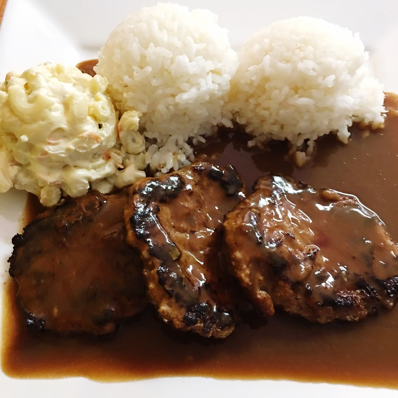 Bamboogrille Maui Wailuku Hamburger Steak