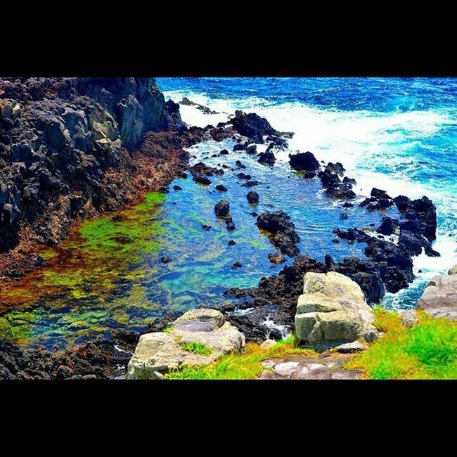 自然が作り出したアート。 長崎県壱岐市 壱岐 海 自然 水溜まり マーブル カラフル 潮 marble sea art iki island nature